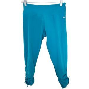 Kyodan Turquoise Blue Calf Length Leggings S Tie
